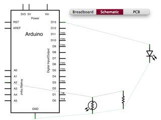 Fritzing Arduino schematic view